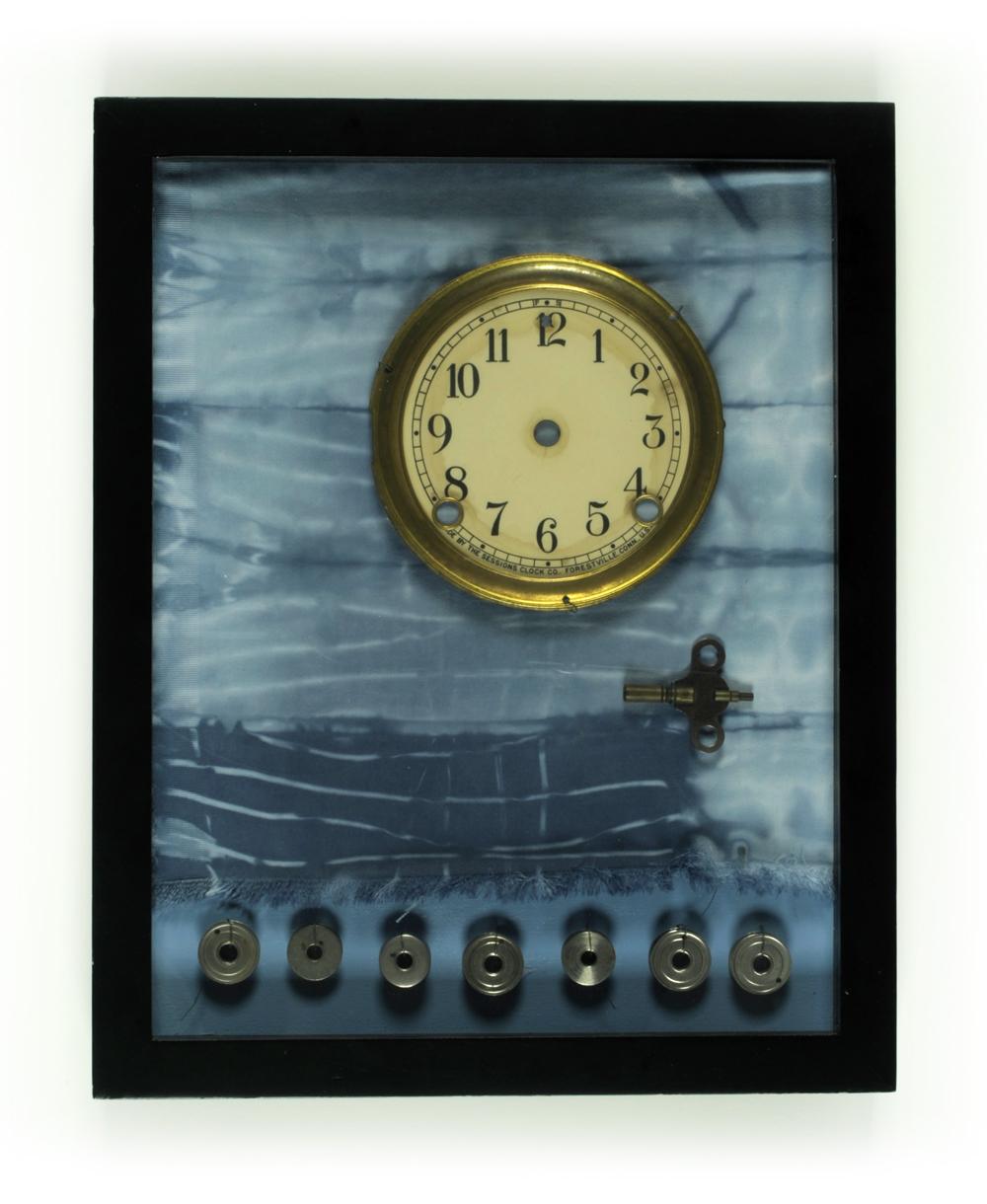 Remnant-#26,-clock-face,-bobbins